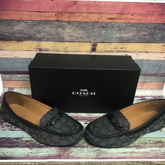 bc2ef18a786 Coach signature print black smoke Olive loafers